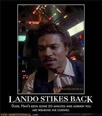 Lando Calrissian Meme - jedi mouseketeer meme week lando s wardrobe