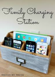 diy charging dock diy family charging station driven by decor