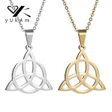 necklace pendant knots images Yukam silver gold mens stainless steel viking runes jewelry jpg