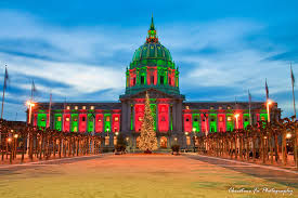sf city hall lights san francisco city hall dressed in christmas lights flickr