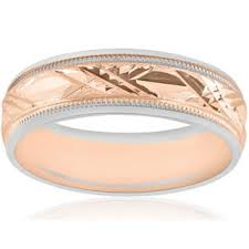 wedding band manufacturers two tone gold rings for less overstock