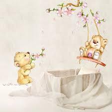 deco ourson chambre bebe stickers animaux pour créer un espace de jeu remplit de joie