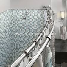 Bathroom Shower Rod Chrome Curved Shower Rod For Bathtub Bc Bathroom Design