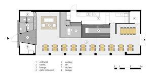 bureau factory travel lower level floor plan of capriole café by bureau fraai