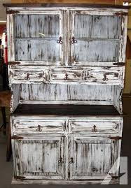 rustic china hutch in white distressed paint finish for sale in