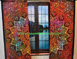 star mandala psychedelic curtains wall tapestry drapes window