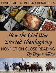 nonfiction reading how thanksgiving became a national