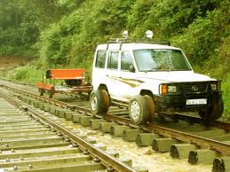 tata sumo modified a tata sumo modified to run on tracks picture taken during a trek