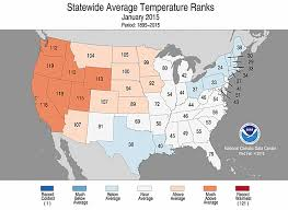temperature map usa january national climate report january 2015 state of the climate