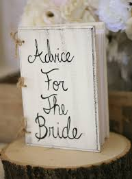 bridal guest book bridal shower guest book advice for the book rustic chic