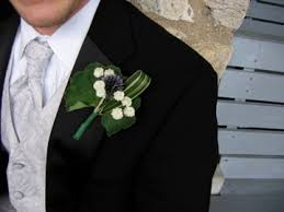 Mens Boutineer Mens Boutonniere Grass Sea Holy Pearl Yarrow Susan Wright