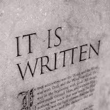 it is written it is written