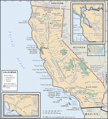 california map national parks map of national parks and monuments of the state of california