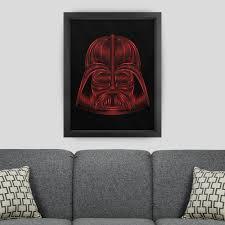 star wars darth vader red tribute art print nathan owens design star wars room geek chic darth vader red