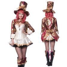 female mad hatter halloween costume steampunk mad hatter storybook alice in wonderland fancy dress