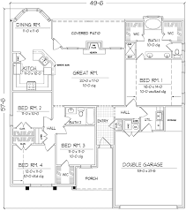 plan42 country style house plan 4 beds 2 baths 1810 sq ft plan 42 697