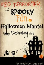 How To Make Halloween Garland Twenty Halloween Mantel And More Decorating Ideas Fox Hollow