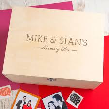 in memory of gifts personalised personalised wood memory box for couples by dust and things