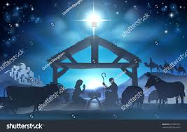 christmas manger traditional christian christmas nativity baby stock