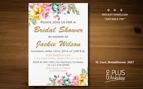 instant download bridal shower invitations printable floral