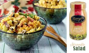 cold pasta salad dressing creamy italian skroodle pasta salad