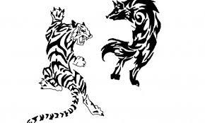 wolf and tiger yinyang