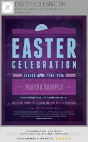 easter celebration church flyer template by philzter graphicriver