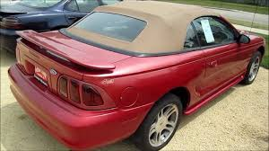 1996 Mustang Gt Interior 1997 Ford Mustang Gt Convertible Start Up Walk Around And Review