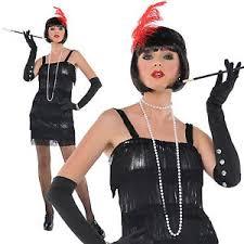 Gangster Woman Halloween Costumes Women U0027s 1920 U0027s Flashy Flapper Gangster Moll Halloween Fancy