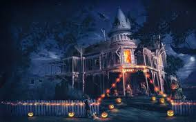 halloween scary horror nights scarecrow pumpkin haunted house hd