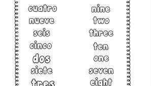 spanish numbers printable writing practice worksheet u2013 miniature