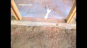 problems with lumber in concrete foundations for easy door