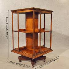 antique oak revolving bookcase library stand antiques atlas