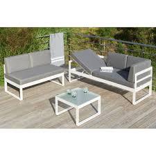 canape jardin aluminium salon de jardin en aluminium blanc table de jardin extensible en