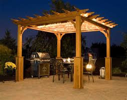 pergola design amazing solar led lights for backyard solar