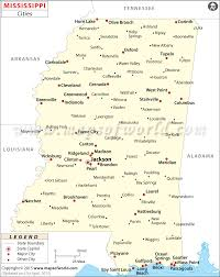 50 States Map With Capitals by Cities In Mississippi Map Of Mississippi Cities