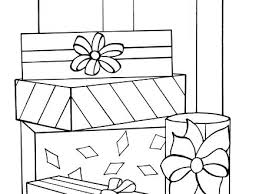 coloring page of christmas tree with presents coloring pages of presents yuga me