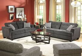 living room red wall paint and grey sofas color combination of