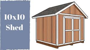 10x10 storage shed plans youtube