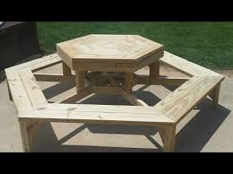 Plans To Build A Hexagon Picnic Table by Hexagon Picnic Table Build Youtube