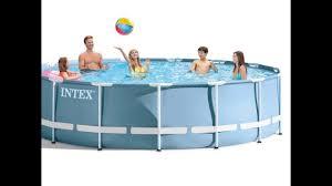 Intex Pool 14x42 Intex 15ft X 42in Prism Frame Pool Set Youtube