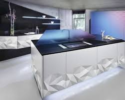 kitchen long glossy chimney on modern kitchen design combined by
