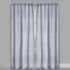 willow branch farmhouse solid button tab window curtains set of