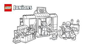 lego juniors sweet supermarket coloring page coloring pages