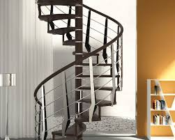 spiral staircase wooden steps wooden frame without risers