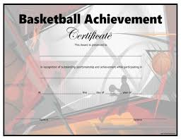 10 best images of free editable printable basketball certificates