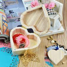aliexpress com buy wooden crafts toys wood jewelry box love