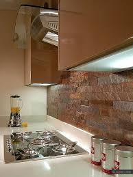Copper Backsplash Tiles For Kitchen Modern Kitchen With Copper Color Slate Kitchen Backsplash Tile