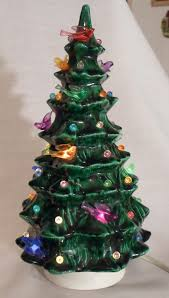 ceramic light up christmas tree happier than a pig in mud went junkin 1980 s small ceramic