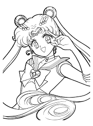 download sailormoon anime coloring pages to print or print
